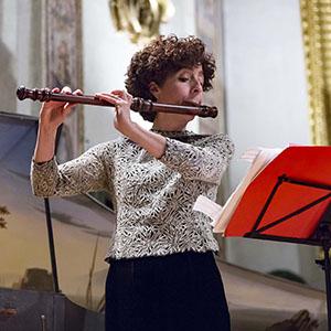 Laura Pontecorvo con flauto di Assisi 2017, foto di Andrea Sermoneta